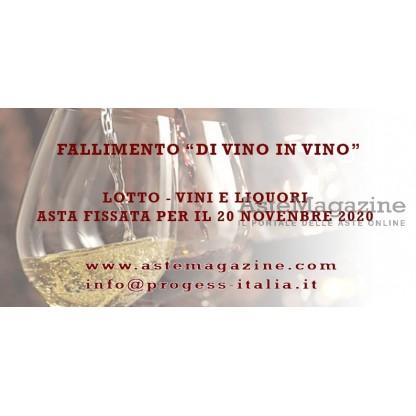 Lotto 1: vini e liquori